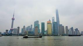 Höghushorisont i Shanghai arkivbild