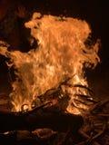 Högkvalitativ lägerbrand arkivfoton