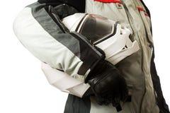 Högkvalitativ motorcykelhjälm Fotografering för Bildbyråer