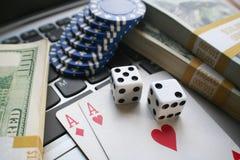Högkvalitativ online-poker Royaltyfri Foto