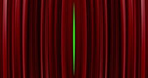 Högkvalitativ perfekt röd bakgrund för gardinöppningsrörelse Inklusive grön skärm vektor illustrationer