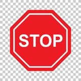 Högkvalitativ symbol för stoppteckensymbol Varnande farasymbol som förbjuder tecknet på bakgrundsvektor royaltyfri illustrationer