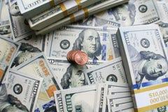 Högkvalitativt foto för pengarmateriel Arkivbild
