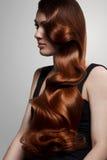 Högkvalitativt rött hår. avbildar. royaltyfri bild