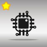 Högkvalitativt svart begrepp för symbol för Chip Icon knapplogo Arkivfoton