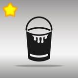 Högkvalitativt svart begrepp för symbol för logo för hinksymbolsknapp Stock Illustrationer