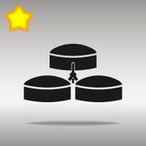 Högkvalitativt svart begrepp för symbol för logo för knapp för Biogasenergisymbol Royaltyfria Foton