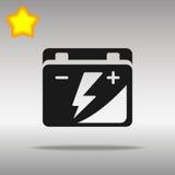Högkvalitativt svart begrepp för symbol för logo för knapp för symbol för bilbatteri Arkivfoton
