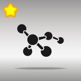 Högkvalitativt svart begrepp för symbol för logo för molekylsymbolsknapp Stock Illustrationer