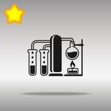 Högkvalitativt svart kemiskt fående begrepp för symbol för symbolsknapplogo Royaltyfri Illustrationer