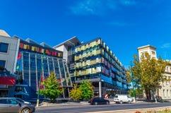 Högkvarter av Bendigoen och Adelaide Bank Ltd i Bendigo Australien royaltyfri foto