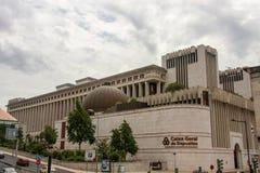 Högkvarter av Caixa Geral de Depositos Portugis tillstånd-ägde bankrörelsekorporationen Arkivfoton