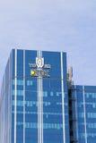 Högkvarter av DTEK, ett hållande företag för energi arkivbilder