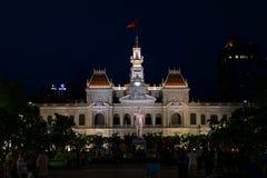 Högkvarter av kommittén för folk` s av Ho Chi Minh City Arkivbilder