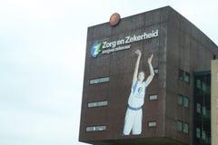 Högkvarter av kontoret för Zorg en Zekerheid, ett hälsovårdförsäkringsbolag i Leiden, Nederländerna arkivfoto