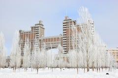 Högkvarter av olja företaget KazMunaiGaz i Astana Fotografering för Bildbyråer