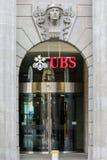 Högkvarter av UBS, Zurich, Schweiz royaltyfria bilder