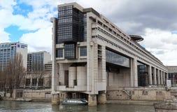 Högkvarteren av det franska departementet av finans och ekonomi lokaliseras i den Bercy grannskapen i 12th Fotografering för Bildbyråer