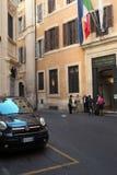 Högkvarteret av handelskammaren i Rome arkivfoton