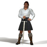 Högländare med svärdet Royaltyfri Foto