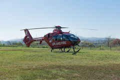 Höglandbrandstationhelikopter Arkivfoto