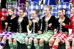 Höglandet spelar scotland Arkivbilder