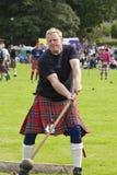 Höglandet spelar scotland Royaltyfria Bilder