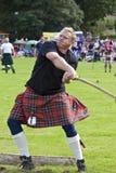 Höglandet spelar scotland Arkivbild