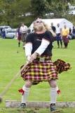 Höglandet spelar Skottland Royaltyfri Fotografi