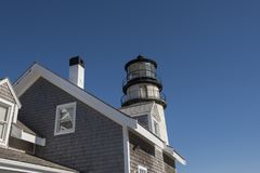 Höglands- fyr på Cape Cod, Massachusetts Arkivbilder