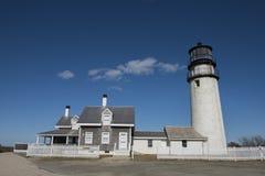 Höglands- fyr på Cape Cod, Massachusetts Arkivfoto