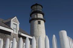 Höglands- fyr på Cape Cod, Massachusetts Fotografering för Bildbyråer