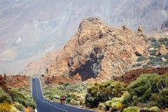 Höglands- huvudväg i Tenerife Arkivbild