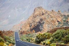 Höglands- huvudväg i Tenerife Royaltyfri Foto
