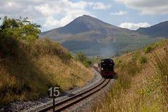 höglands- järnväg welsh Royaltyfri Fotografi