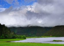 höglands- lakes Royaltyfri Fotografi