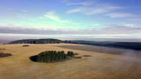 Höglands- landskap för flyg- bygd med skogen lager videofilmer