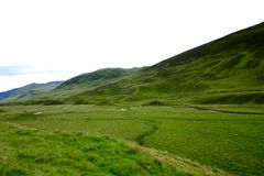 höglands- scotland royaltyfri bild