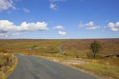Höglandväg Arkivfoto