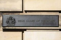 Högre domstol av justiciaryen Arkivbilder