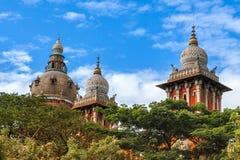 Högre domstol i Chennai, Indien Arkivbilder