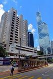 Högre domstol och bank av porslinet, Hong Kong Royaltyfri Fotografi