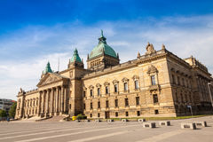 Högre domstol stad av Leipzig Arkivbild