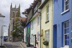 Högre gata Brixham Torbay Devon Endland UK Fotografering för Bildbyråer