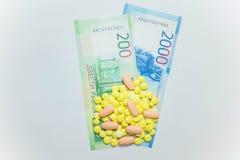 Högre priser för mediciner i Ryssland Royaltyfria Bilder
