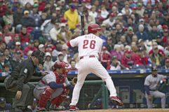 Högre serie i basebollspelare Royaltyfri Bild
