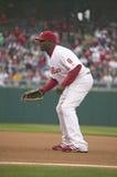 Högre serie i basebollspelare Arkivfoto