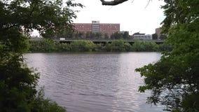 """Högre tidebut inte det högst av den Raritan floden FlodDorms NJ USA Ð """", royaltyfria foton"""