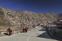 Högskola av buddism och monks Arkivfoto