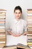 högskolakvinna Arkivfoton